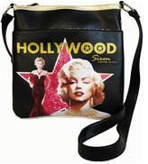 Monroe Women's Marilyn Forever Beautiful Hollywood Siren Messenger Bag - Black Casual Handbags