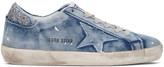 Golden Goose Deluxe Brand Blue Denim Superstar Sneakers