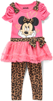 Children's Apparel Network Minnie Mouse Ruffle Tunic & Leopard Print Leggings - Toddler