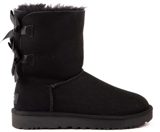 UGG Black Bailey Bow Suede Ankle Boots