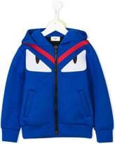 Fendi fur trim zipped hoodie