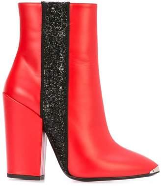 Amiri glitter stripe ankle boots
