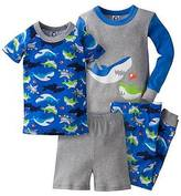 Gerber Baby Boys' ; 4-Piece Shark PJ Set - Blue