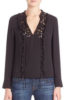 Rebecca Minkoff Kathy Long Sleeve Lace Top