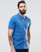 Farah Polo Shirt With F Logo Regular Fit In Blue