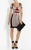 Herve Leger Gabi Engineered Colorblocked Jacquard Dress