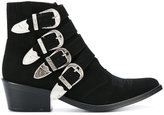 Toga Pulla buckle detail ankle boots - women - Leather/Suede - 36