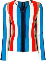 Marc Cain striped zip cardigan