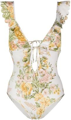 Zimmermann Floral Print Swim Suit