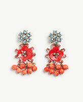 Ann Taylor Sequin Floral Crystal Earrings