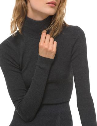 Michael Kors Collection Long-Sleeve Wool Turtleneck Bodysuit