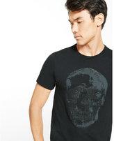 Express black caviar bead skull graphic t-shirt
