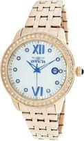 Invicta Women's Angel Rose -Tone Steel Bracelet & Case Quartz Watch 23663