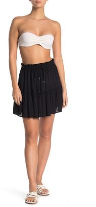Elan International Puckered Mini Cover-Up Skirt