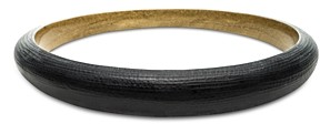 Alexis Bittar Tapered Two-Tone Bangle Bracelet