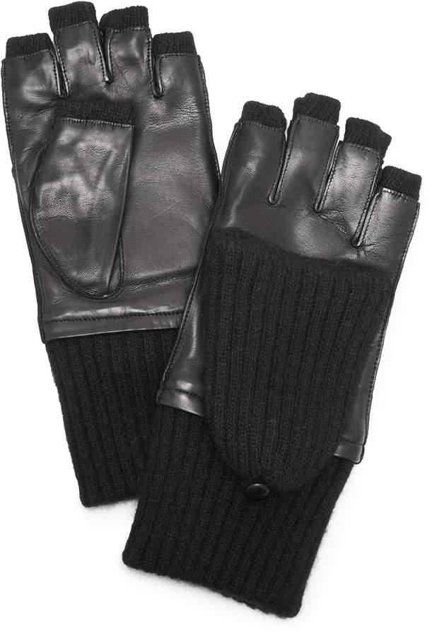 Carolina Amato Leather & Cashmere Gloves