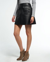 Superdry Billie Leather Pocket Skirt