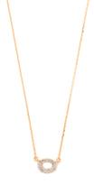 Adina 14k Gold Super Tiny Pave Oval Necklace