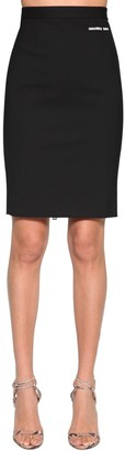 DSQUARED2 Stretch Wool Pencil Skirt