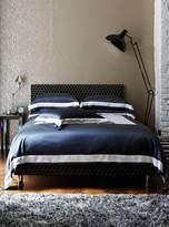 House of Fraser Gingerlily Slate Silk Cotton Double Flat Sheet