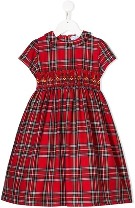 Siola tartan print Peter Pan collar dress