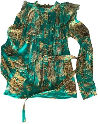 Francesco Scognamiglio Green Silk Top for Women