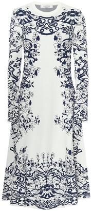 Valentino printed knit midi dress