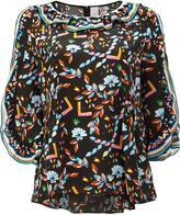 Peter Pilotto printed ruffle trim blouse - women - Silk - 8