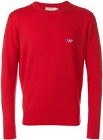 MAISON KITSUNÉ logo embroidered jumper - men - Virgin Wool - S