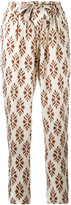 Forte Forte diamond print trousers - women - Silk/Cotton - 2