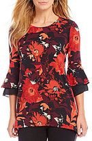 Westbound 3/4 Double Bell Sleeve Tunic