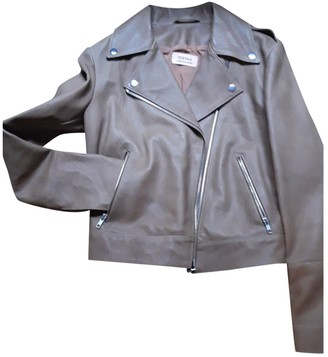 Meteo Brown Leather Jacket for Women