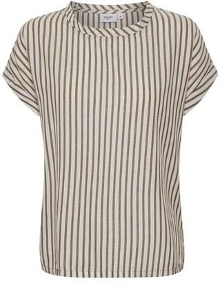 Saint Tropez Stripe Short Sleeve Top - Large