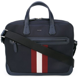 Bally Chandos stripe briefcase