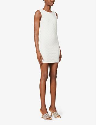 Odolls Collection Monogram-print sleeveless stretch-cotton mini dress
