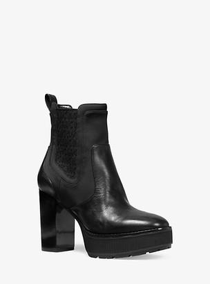 Michael Kors Cramer Leather Platform Boot