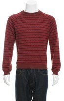 Patrik Ervell Patterned Knit Crew Neck Sweater
