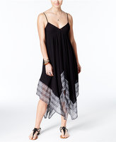 Jessica Simpson Dakota Printed Handkerchief-Hem Cover-Up Dress