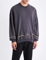 Haider Ackermann Metallic-embroidered cotton-jersey sweatshirt
