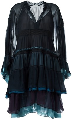 Chloé tiered colour block dress
