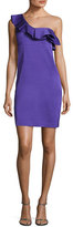 Trina Turk Intrigue Ruffled One-Shoulder Sheath Dress