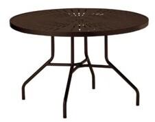 """La'Stratta Round 27"""" Table Tropitone Size: 27"""" H x 42"""" L x 42"""" W, Frame Color: Graphite"""