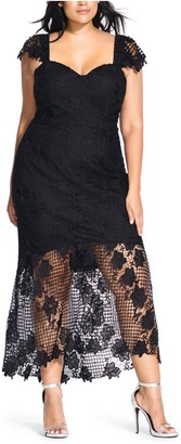 City Chic Leonie Lace Mermaid Dress