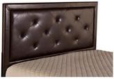 Hillsdale Becker Headboard, King, Brown Faux Leather