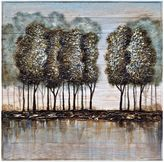 Bed Bath & Beyond Wood and Metal Tree Oil Painting Frameless Wall Art