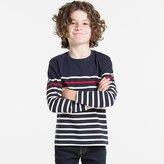 Uniqlo Boys Striped Crewneck Long Sleeve T-Shirt