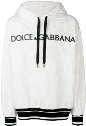Dolce & Gabbana contrast logo hoodie