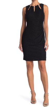 Eliza J Glitter Knit Sheath Dress