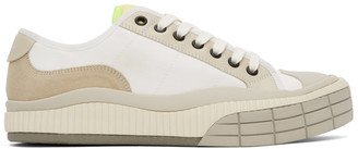 Chloé White and Off-White Clint Sneakers