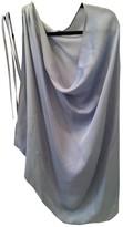 Plein Sud Jeans Blue Silk Top for Women